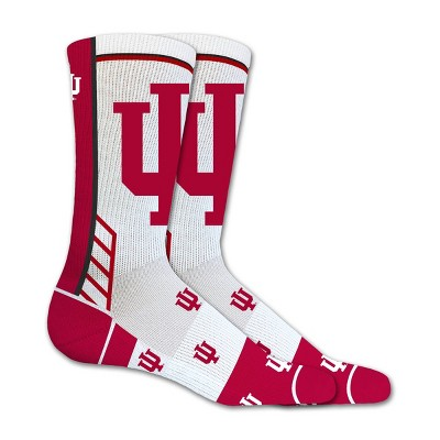 NCAA Indiana Hoosiers Tailgate Crew Socks L