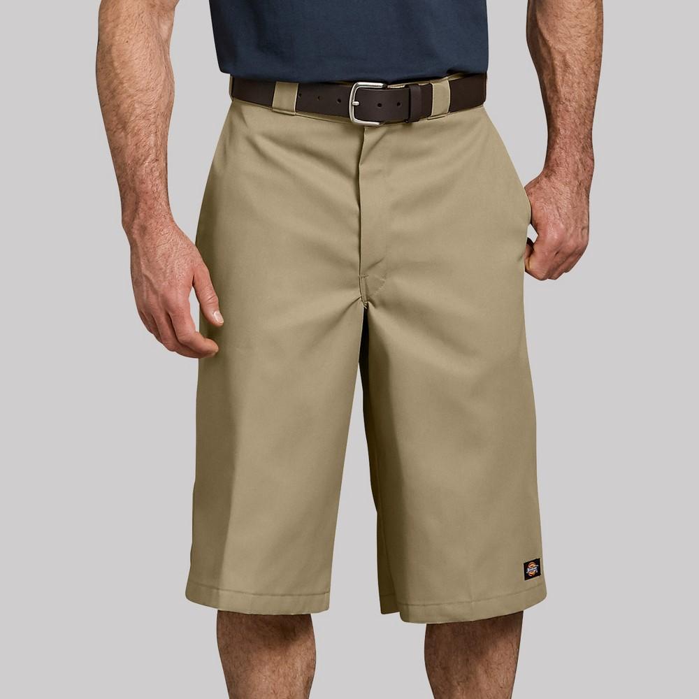 Dickies Men's 16 Big & Tall Trouser Shorts - Khaki Heather 44
