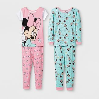 Baby Girls' Minnie Mouse 4pc Pajama Set - Pink 18M