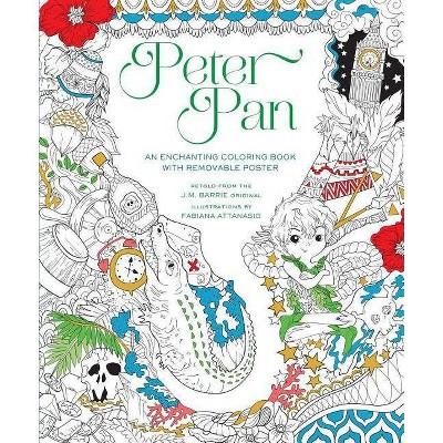 Peter Pan Coloring Book - by  Fabiana Attanasio (Paperback)