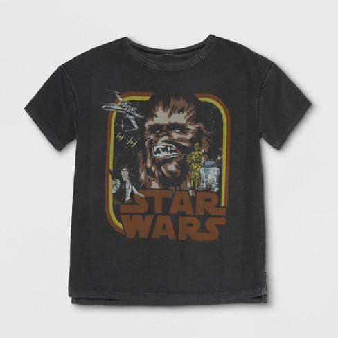 Junk Food Boys Star Wars Chewbacca Short Sleeve T Shirt Black