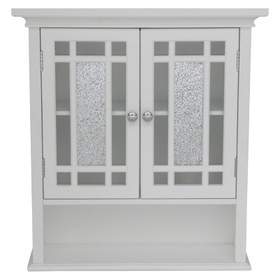 Windsor Wall Cabinet White - Elegant Home Fashions