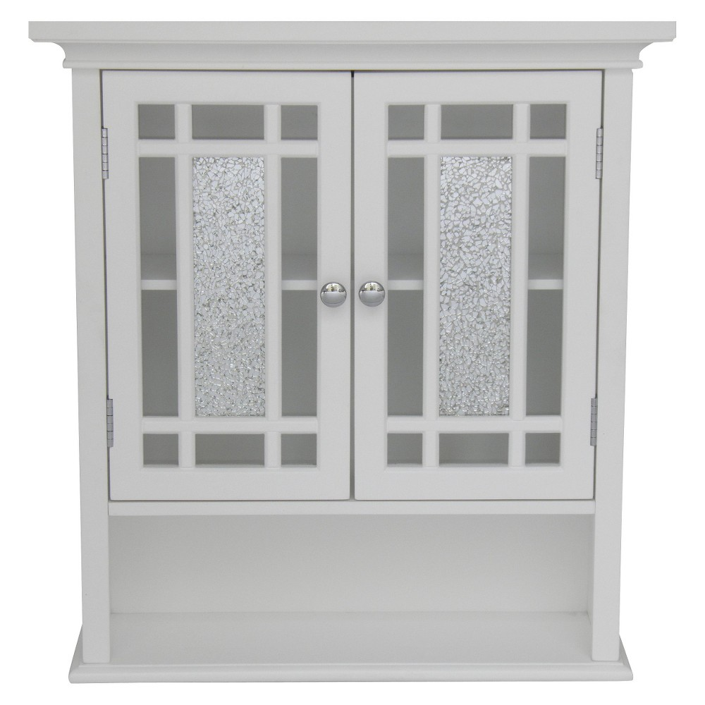 Image of Elegant Home Fashions Windsor Wall Cabinet - White