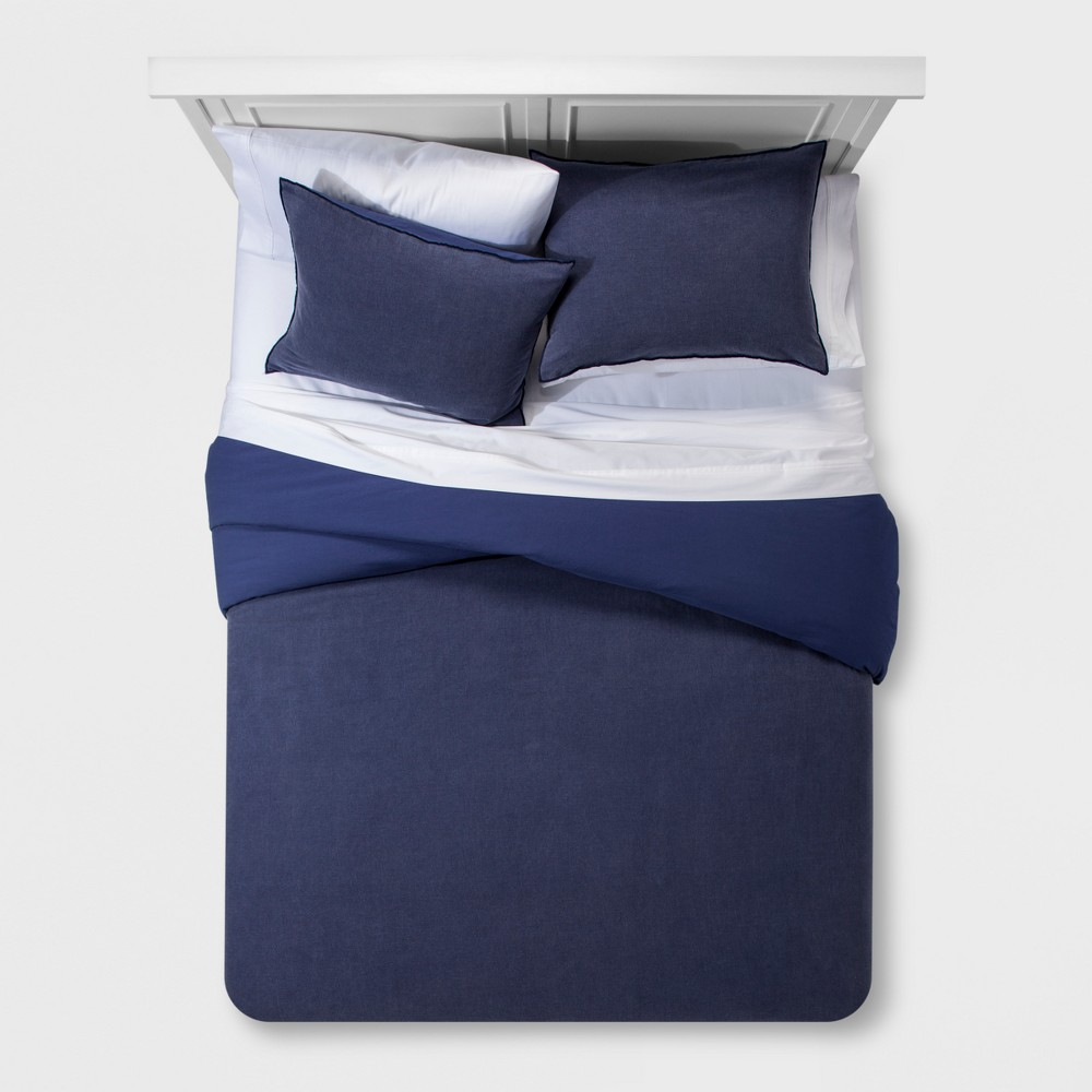 Blue Washed Linen Blend Duvet Cover Set (King) - Project 62 + Nate Berkus was $89.99 now $44.99 (50.0% off)