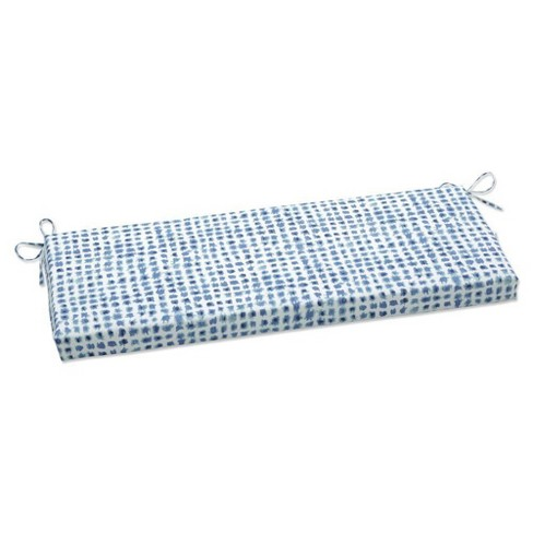 Outdoor/Indoor Bench Cushion Alauda Porcelain Blue - Pillow Perfect - image 1 of 1