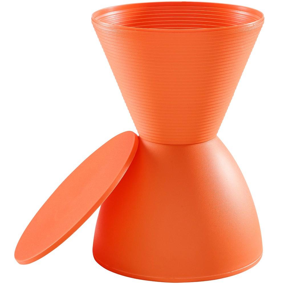 Image of Haste Stool Orange - Modway
