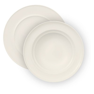 12pc Neo White Porcelain Dinnerware Set - VIVO by V&B Group