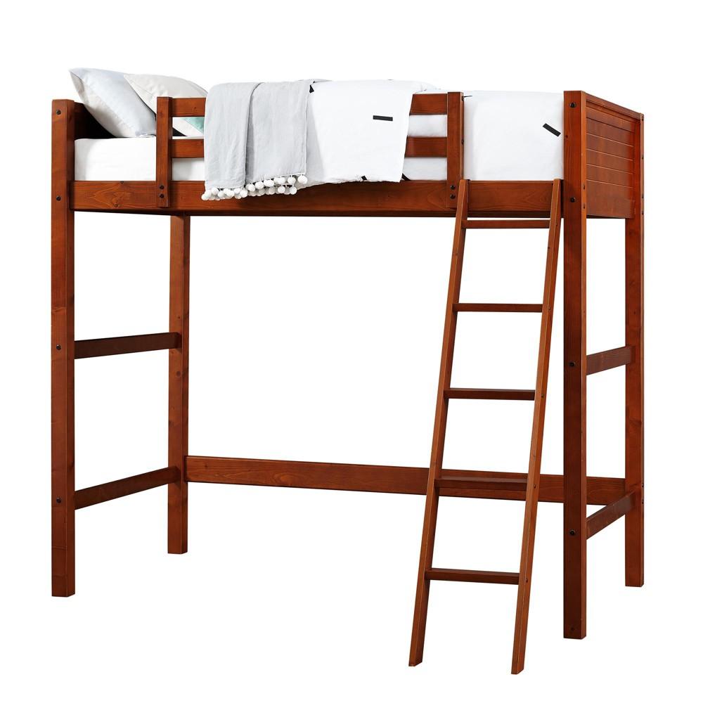 Houston Loft Bed Walnut (Brown) - Dorel Living
