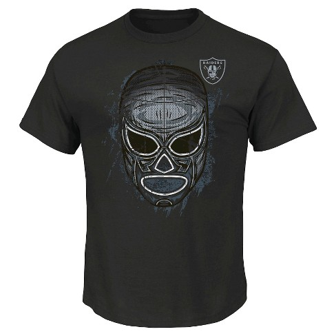 Oakland Raiders Men's Mask T-Shirt M - image 1 of 1