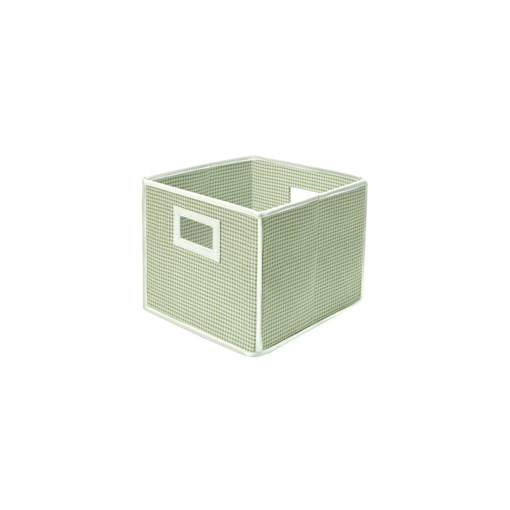 Image of Badger Basket Fabric Cube - Gingham Sage (Green)