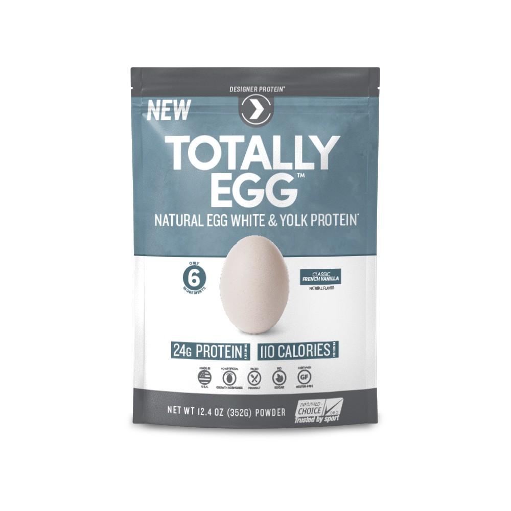 Designer Protein Totally Egg Protein Powder - French Vanilla - 12.4oz