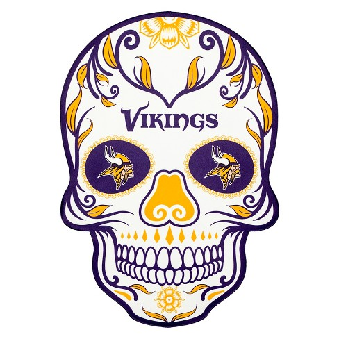 NFL Minnesota Vikings Small Outdoor Skull Decal - image 1 of 2