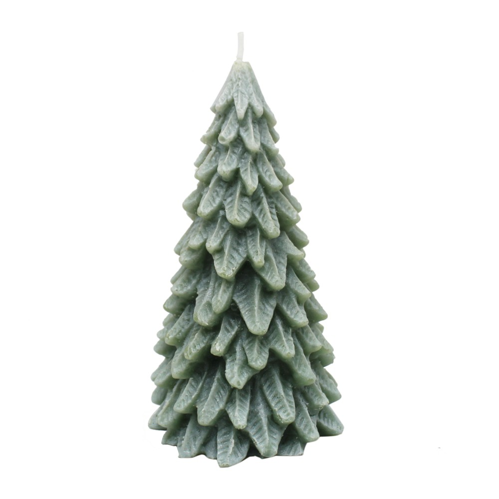 4 Small Novelty Christmas Tree Candle Evergreen - Chesapeake Bay Candle, Green
