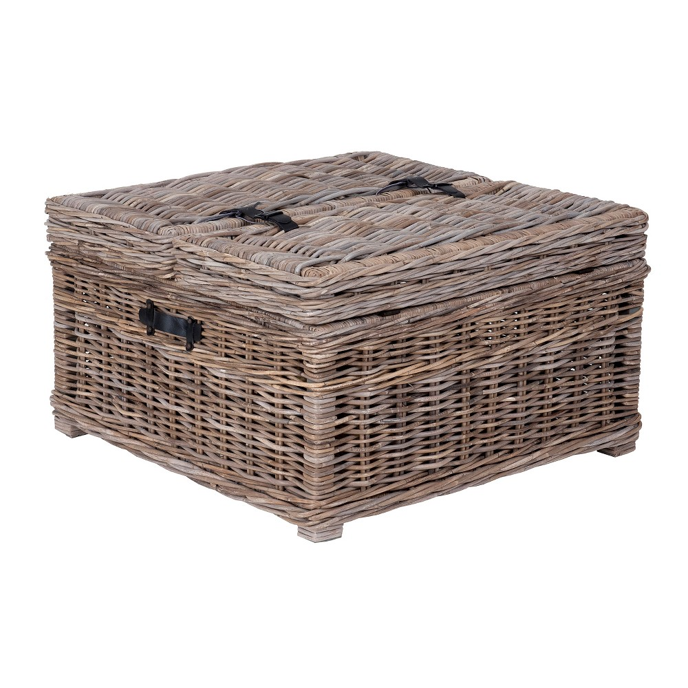 Harbor Rattan Coffee Table Gray - East At Main