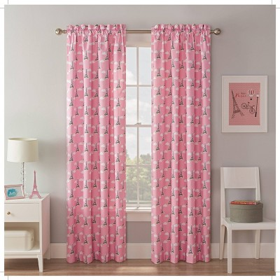 Tres Chic Blackout Curtain Panels Pink - Waverly Kids