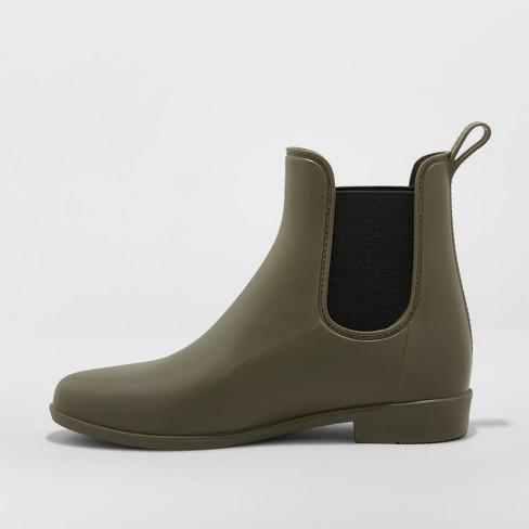 357599169e4 Women s Chelsea Rain Boots - A New Day™ Green 12   Target
