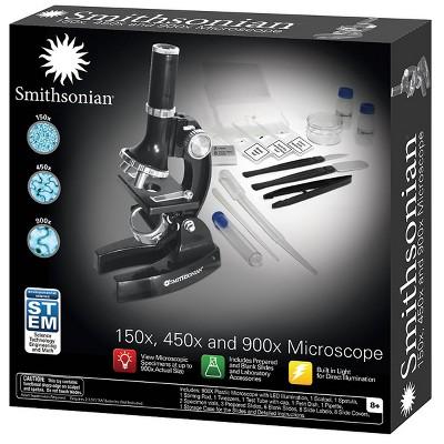 Smithsonian 150X, 450X, 900X Microscope Kit