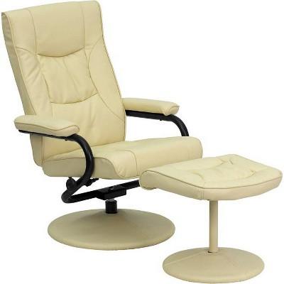 Contemporary Multi - Position Recliner and Ottoman - Flash Furniture