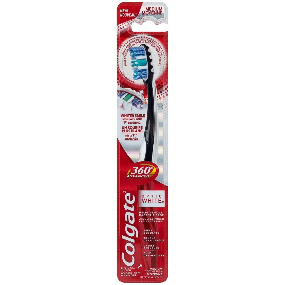 Image of Colgate 360 Advanced Optic White Toothbrush Medium - 1ct