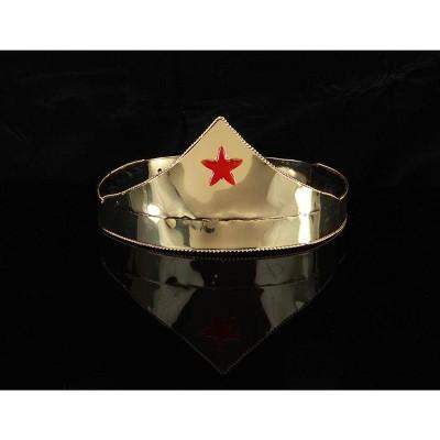 Elope Wonder Gold & Red Star Adjustable Costume Crown Adult