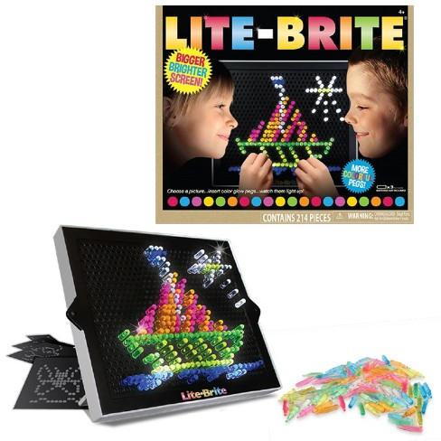 Lite Brite Ultimate Classic - With 6 Templates and 200 Colored Pegs - image 1 of 8
