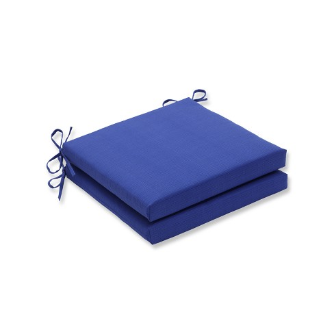 Fresco 2pc Indoor/Outdoor Squared Corners Seat Cushion - Navy - Pillow Perfect - image 1 of 1