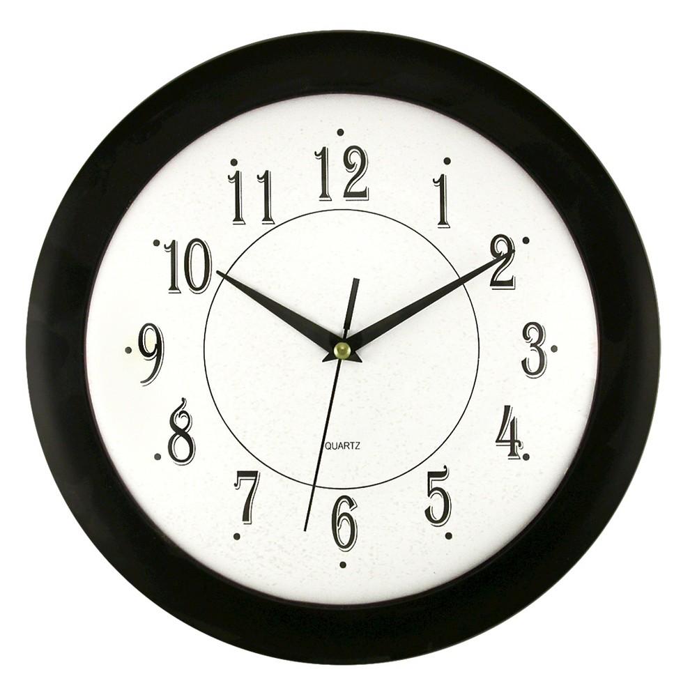 "Image of ""12"""" Wall Clock White/Black - TimeKeeper"""