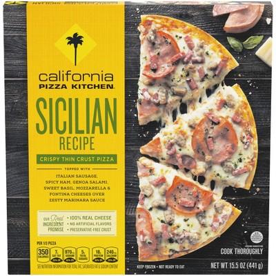 california pizza kitchen crispy thin crust sicilian recipe frozen rh target com
