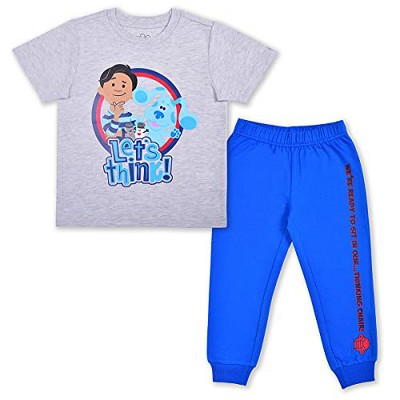Nickelodeon Boy's 2-Pack Blue's Clues Graphic Tee and Jogger Pant Set for Toddlers