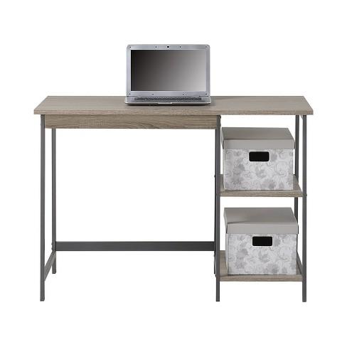 Gemelli Writing Desk And 4 Shelf Bookcase Set Reclaimed Wood Homestar Target
