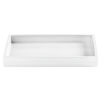 Lacquer Stripe Tray White - Cassadecor