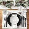 5pc Matte Finish Flatware Set Black - Hearth & Hand™ with Magnolia - image 2 of 4