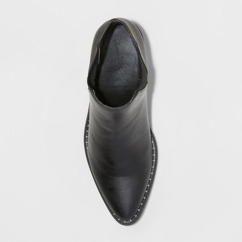 01effe389f5 Women s Luna Faux Leather Studded Welt Western Bootie - Universal Thread™    Target