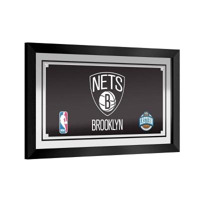 NBA Brooklyn Nets Team Logo Wall Mirror