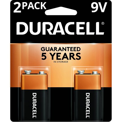 Duracell Coppertop 9V Batteries - 2pk Alkaline Battery