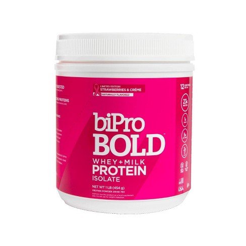 BiPro Bold Protein Powder - Strawberries & Crème - 1lb - image 1 of 4