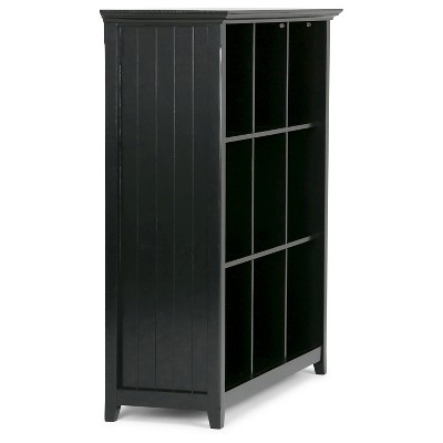 Play Acadian 9 Cube Bookcase U0026 Storage Unit Black   Simpli Home   Video 1  Of. + 4 More