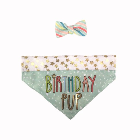 Birthday Pup Bandana with Bow Tie Collar Slide Dog Costume Sets - XS/S - Boots & Barkley™ - image 1 of 1