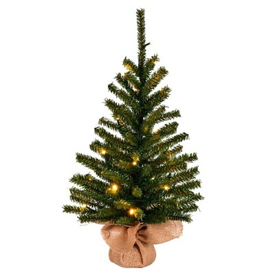 """Vickerman 24"""" x 14"""" Wolf Creek Pine Artificial Christmas Tree, Warm White Battery Operated LED lights"""