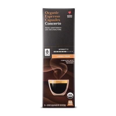 Concerto Organic Espresso Dark Roast - Single Serve Espresso Capsules - 10ct - Archer Farms™