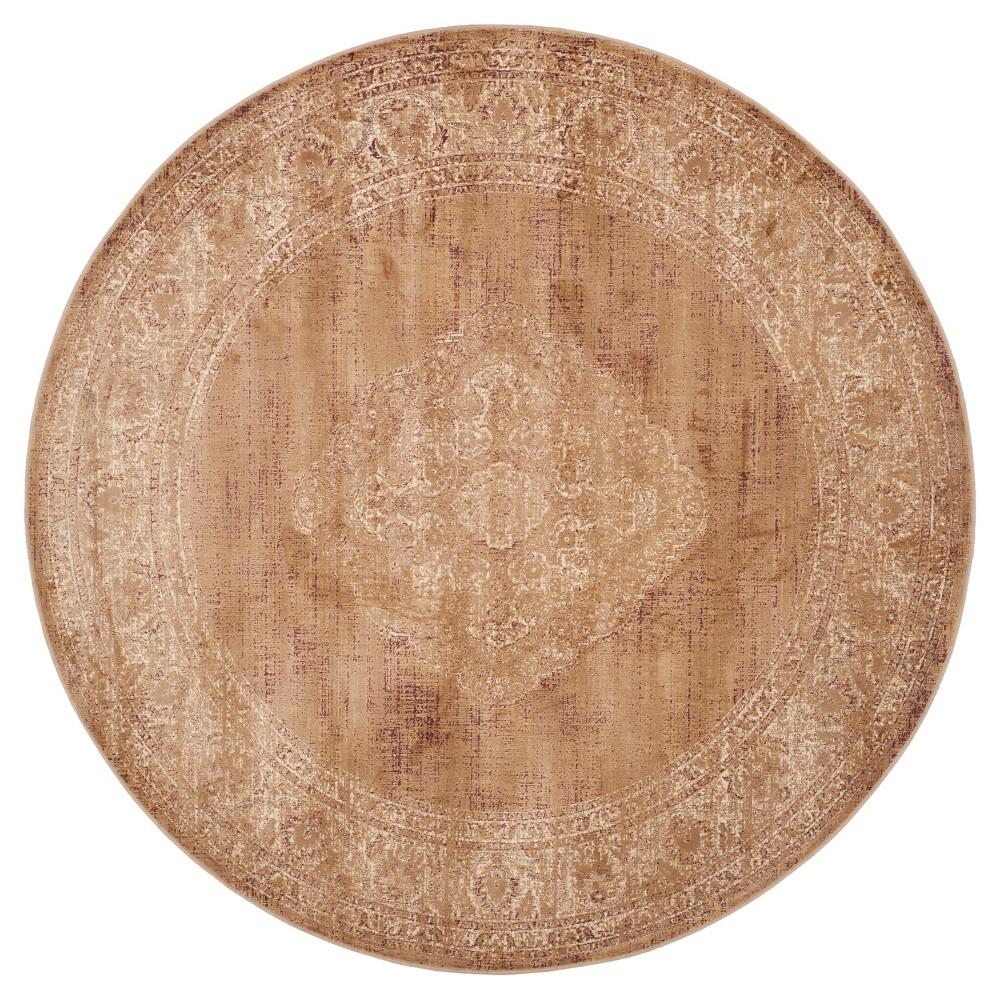 Soft Taupe Adalene Vintage Inspired Rug (6' Round) - Safavieh