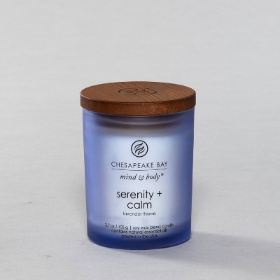 3.7oz Small Jar Candle Serenity & Calm - Mind And Body By Chesapeake Bay Candle