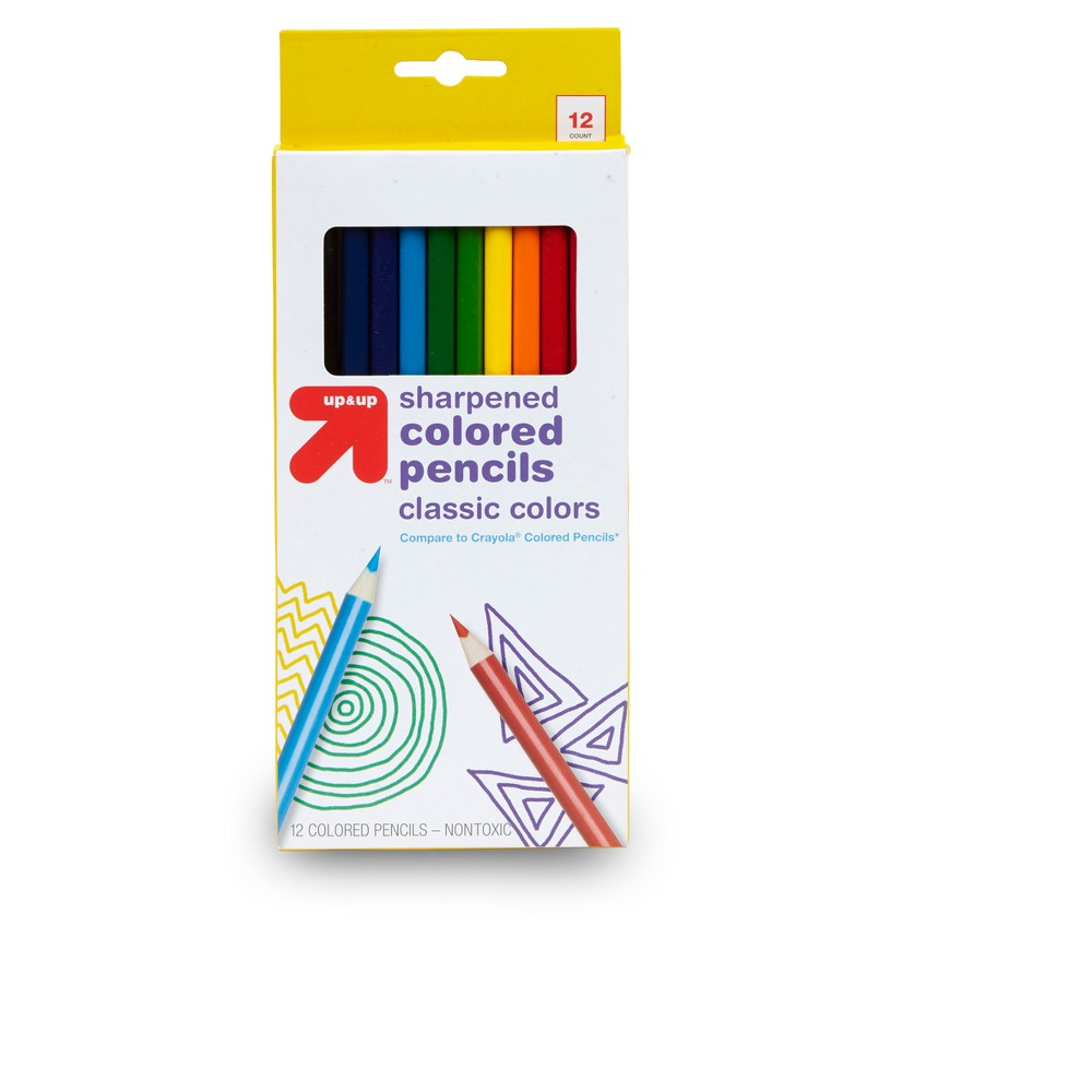 Image of 12ct Sharpened Colored Pencils Classic Colors - Up&Up