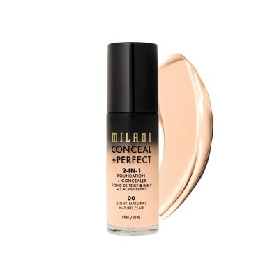 Milani Conceal + Perfect 2-in-1 Foundation + Concealer Cruelty-Free Liquid Foundation - 1 fl oz