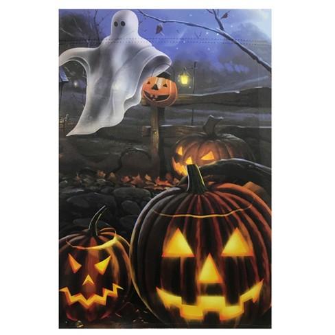 Northlight Pumpkins And Ghost Spooky Halloween Outdoor Garden Flag 28 X 40 Target