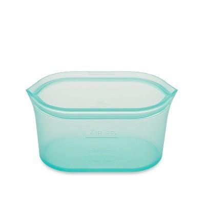 Zip Top 24oz Reusable 100% Platinum Silicone Container - Medium Dish - Teal