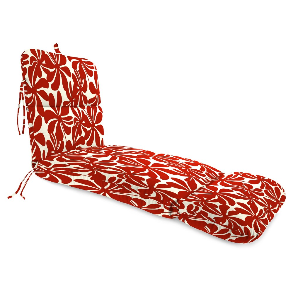 Outdoor One Piece Seat And Back Cushion - Red - Jordan Manufacturing, Vintage Cream