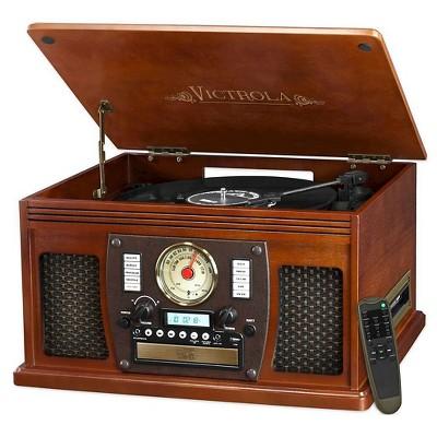 Vinyl Turntable Victrola - Mahogany