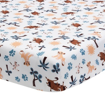 Lambs & Ivy Lion King Adventure Fitted Crib Sheet