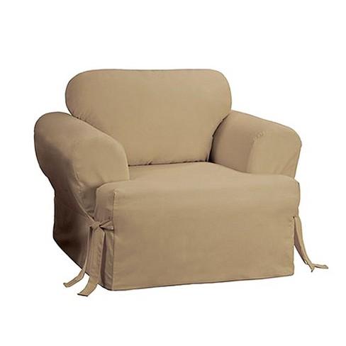 Cotton Duck Tcushion Chair Slipcover Sure Fit